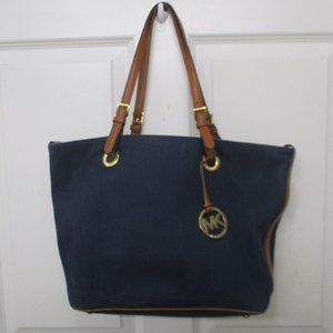 Michael Kors tote purse canvas and leather